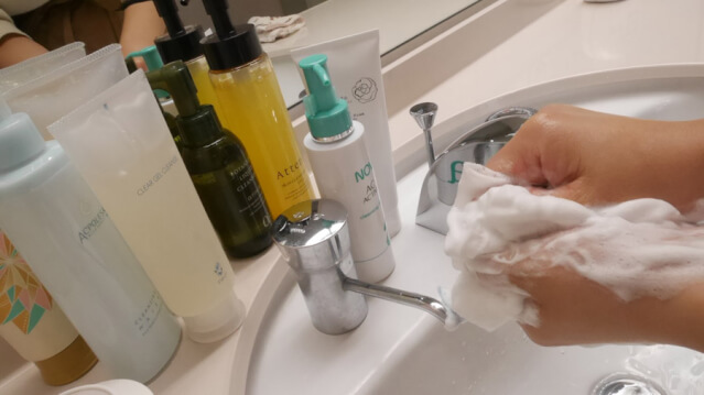 洗顔 ニキビ