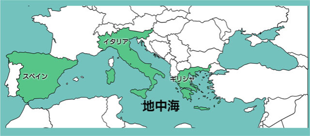 オリーブオイルと地中海