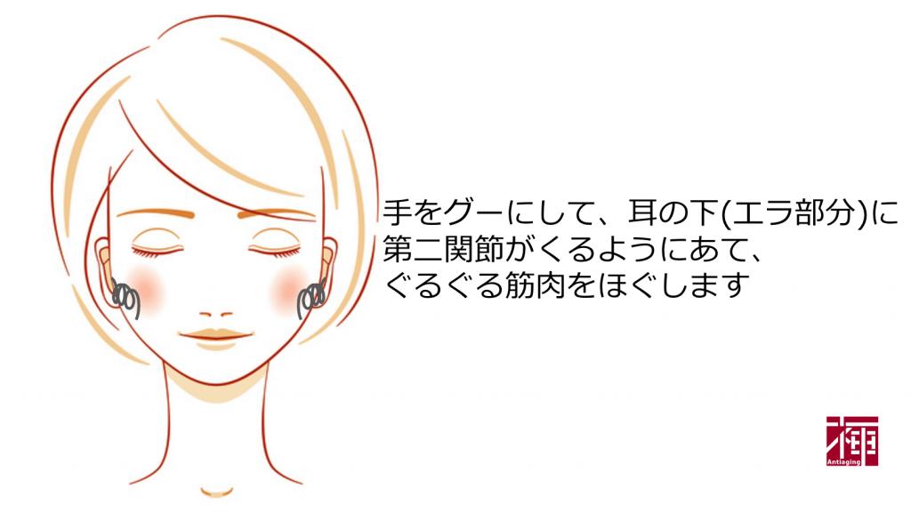 DMAE配合化粧品 たるみマッサージ1
