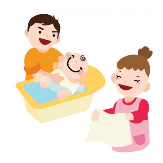 お風呂 赤ちゃん 双子