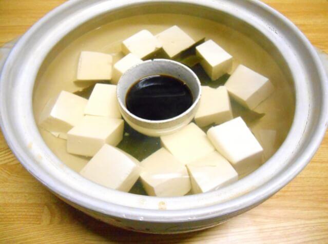 重曹で湯豆腐