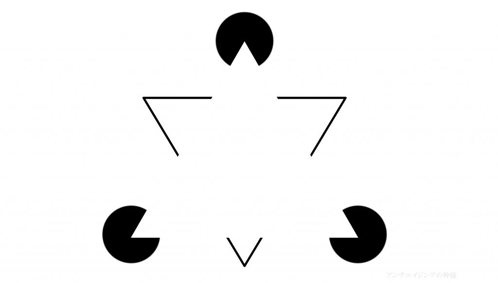 眼の錯覚 カニッツァの三角形