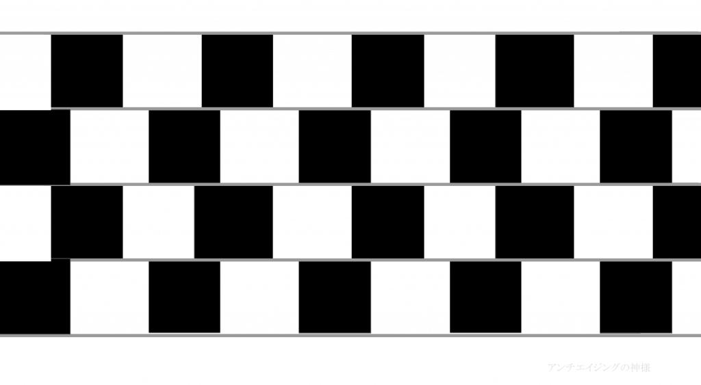 眼の錯覚 グレゴリー カフェウォール錯視