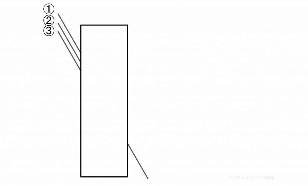 眼の錯覚 ポッゲンドルフ錯視2
