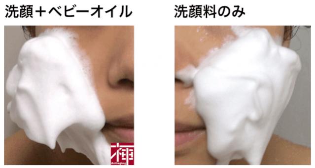 ベビーオイル 洗顔つっぱり防止