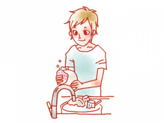 海外文化 皿洗い
