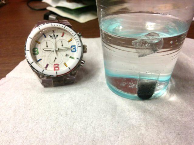 ホコニコのラクトフェリン+乳酸菌 実験 溶ける カプセル 水