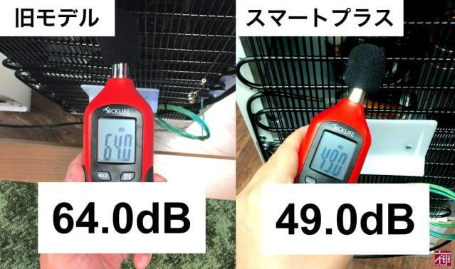 コスモウォータースマートプラス  作動音比較