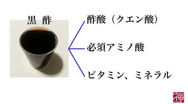 黒酢効果 成分