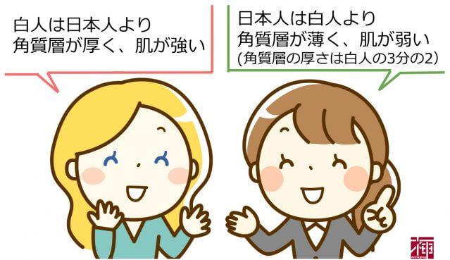 日本人と外国人の肌の違い