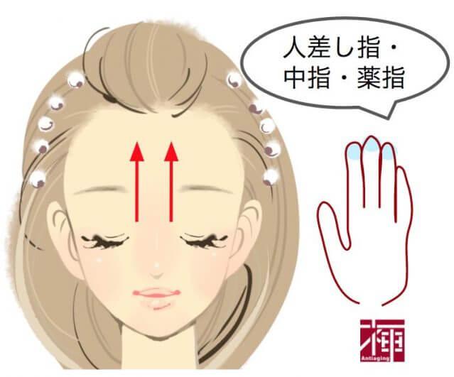 顔のたるみをとる方法 額